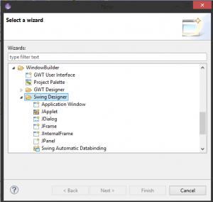 como agregar asistente de interfaz grafica en eclipse 3
