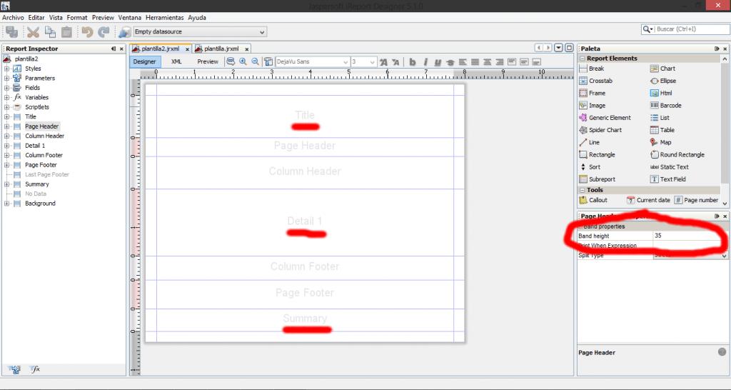 como crear reportes en java 4
