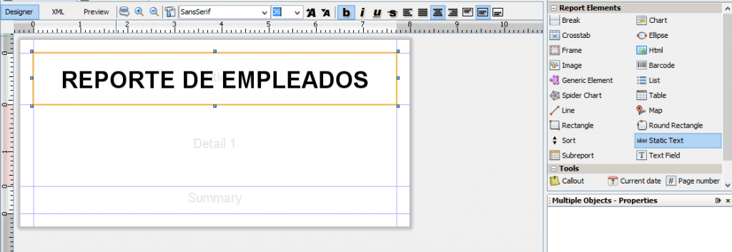 como crear reportes en java 5