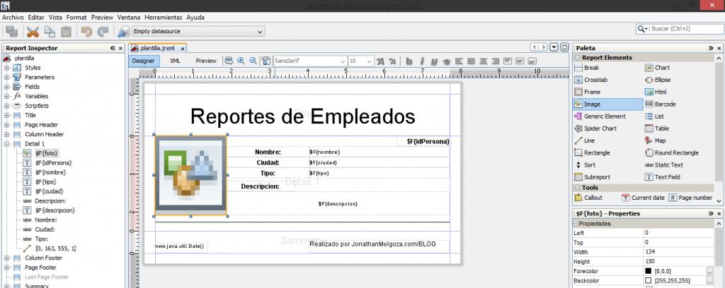 como crear reportes en java 9