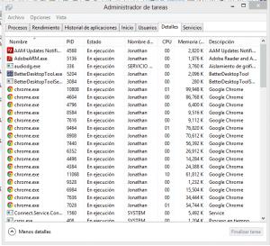 Informacion Sobre Procesos en Windows 1