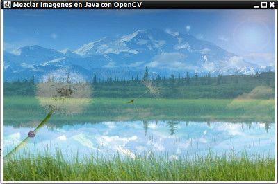 mezclar imagenes en Java con opencv resultado
