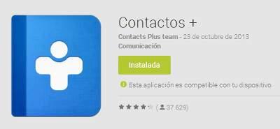 La Mejor Aplicacion de Contactos para Android – Contactos+