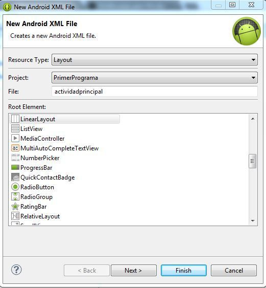 primer programa en android 6