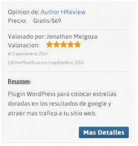 estrellas doradas en los resultados de google author hreview 2