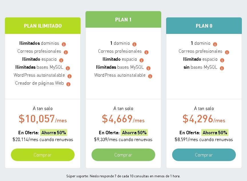 mejor hosting en Colombia planes neolo