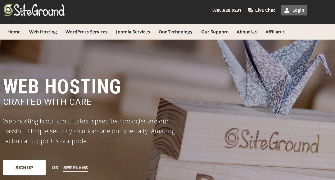 Hosting para empresas con Siteground