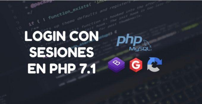 login con sesiones en php 71