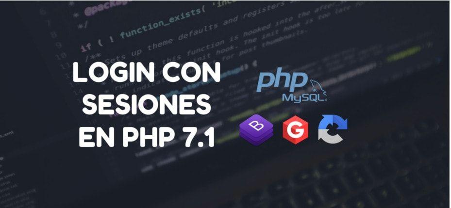 Login con sesiones en PHP 7.1