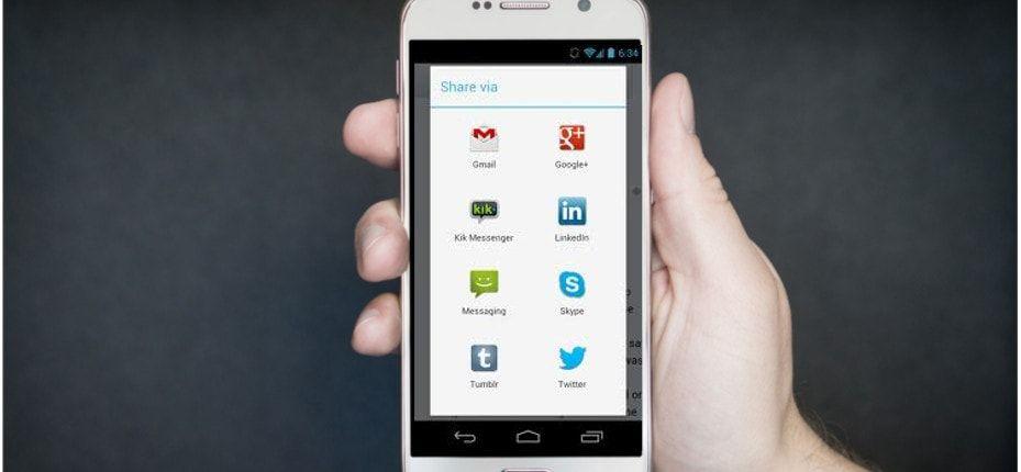 como crear un boton de compartir en android