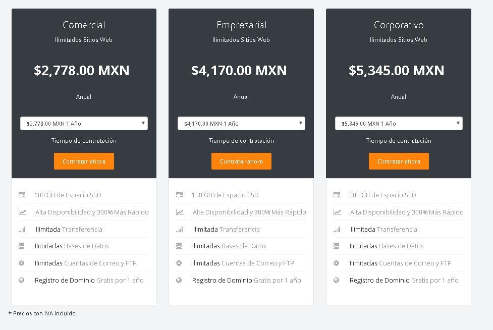 mejor hosting en mexico digitalserver comerciales