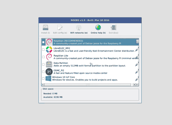 instalar raspbian elegir sistema operativo