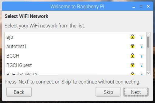 instalar raspbian elegir wifi