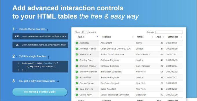 Ejemplo de datatables con server side codigo jonat