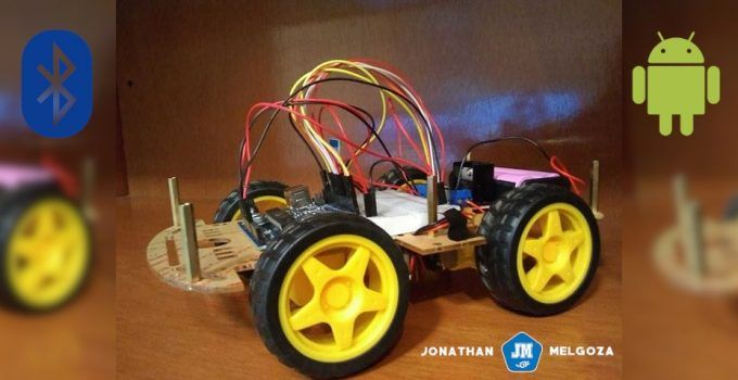 Carrito arduino controlado por Bluetooth mediante una App jonathanmelgoza