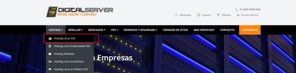servidores para subir paginas web paso 1